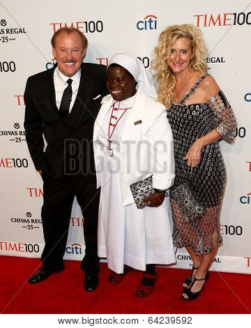 NEW YORK-APR 29: (L-R) Reggie Whitten, Sister Rosemary Nyirumbe &Rachelle Whitten attend the Time 100 Gala for the Most Influential People at Frederick P. Rose Hall on April 29, 2014 in New York City.