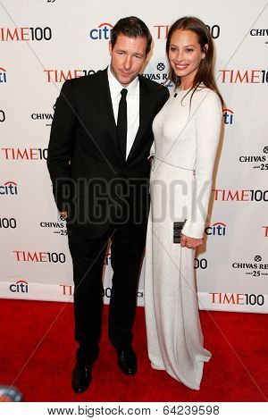 NEW YORK-APR 29: Director Ed Burns (L) and Christy Turlington attend the Time 100 Gala for the Most Influential People at Frederick P. Rose Hall at Lincoln Center on April 29, 2014 in New York City.