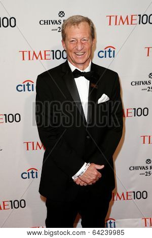 NEW YORK-APR 29: Environmentalist Tom Steyer attends the Time 100 Gala for the Most Influential People in the World at the Frederick P. Rose Hall at Lincoln Center on April 29, 2014 in New York City.