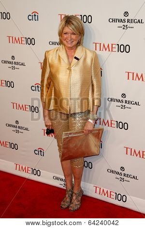 NEW YORK-APR 29: Martha Stewart attends the Time 100 Gala for the Most Influential People in the World at the Frederick P. Rose Hall at Lincoln Center on April 29, 2014 in New York City.