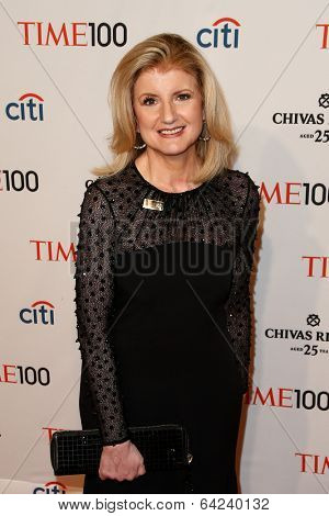 NEW YORK-APR 29: Author Arianna Huffington attends the Time 100 Gala for the Most Influential People in the World at the Frederick P. Rose Hall at Lincoln Center on April 29, 2014 in New York City.