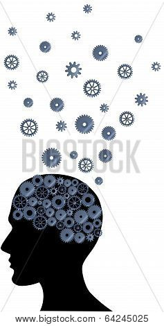 Illustration Of A Brain With Many Ideas