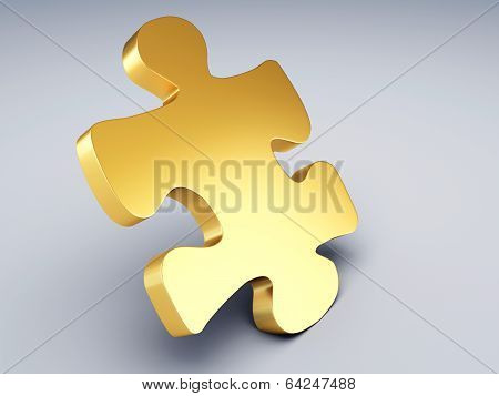 Gold Puzzle Piece