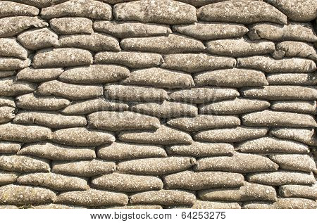 Background Of Sandbags In Trench Of Death