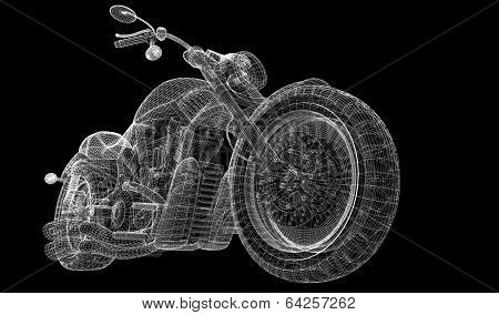 Motorcycle on a background