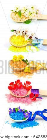 Wooden Spoons With Color Bath Salt