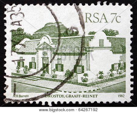 Postage Stamp South Africa 1982 Drostdy, Graaff-reinet