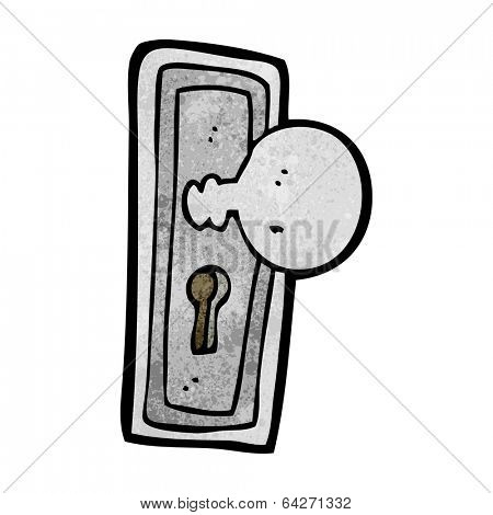 cartoon door knob