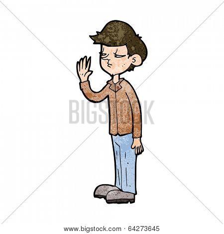 cartoon arrogant boy