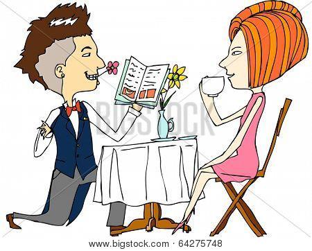 man proposing a woman