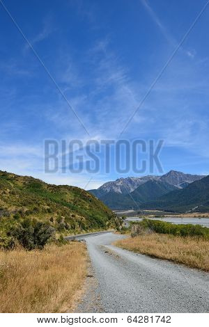 Non-asphalt road, New Zealand