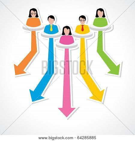 creative business advisor for different field concept vector