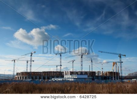 Building Site Of The Baltic Arena