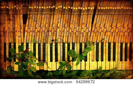 Vintage Broken Piano