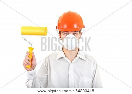 Young Man With Paint Roller