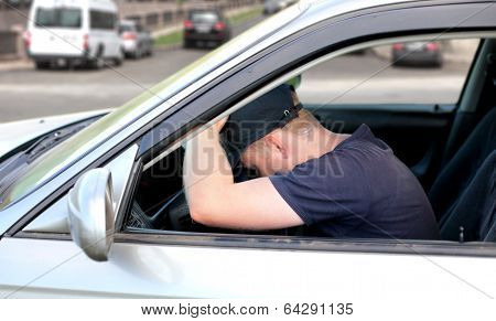 Man Fall Asleep In The Car