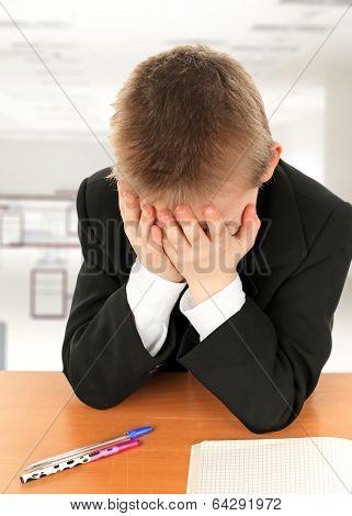 Sad Kid At The Desk