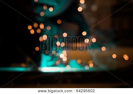 Welders and light