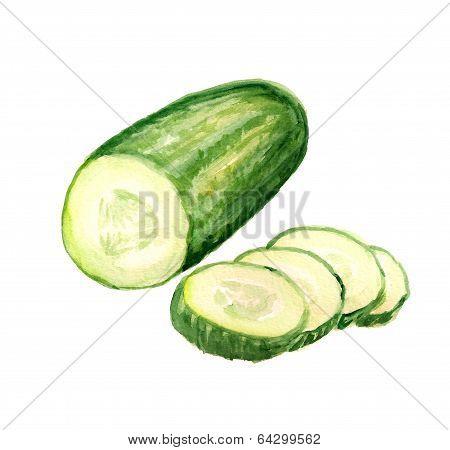 Half of cucumber