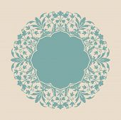 stock photo of swirly  - Beautiful floral unit - JPG