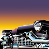 picture of 50s  - A classic oldtimer of the 50s as vectorgraphic - JPG