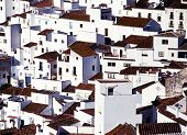 foto of pueblo  - Close up of the whitewashed houses in this famous Pueblo Blanco Casares Malaga Province Andalucia Spain Western Europe - JPG