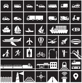picture of air transport  - Transportation icons set  - JPG