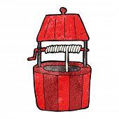 image of wishing-well  - cartoon wishing well - JPG