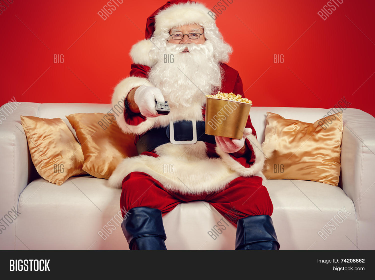 Traditional santa claus sitting on image photo bigstock