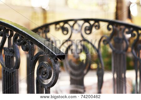 Railings close-up