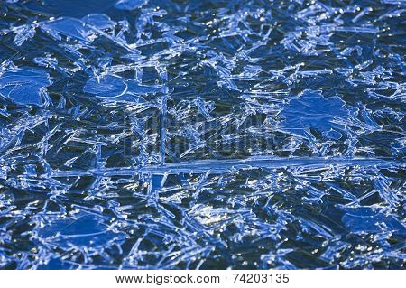 Cool blue ice sheets.