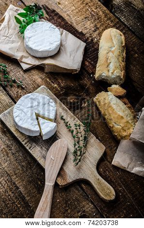 Camembert, Soft Cheese With Homemade Pastries