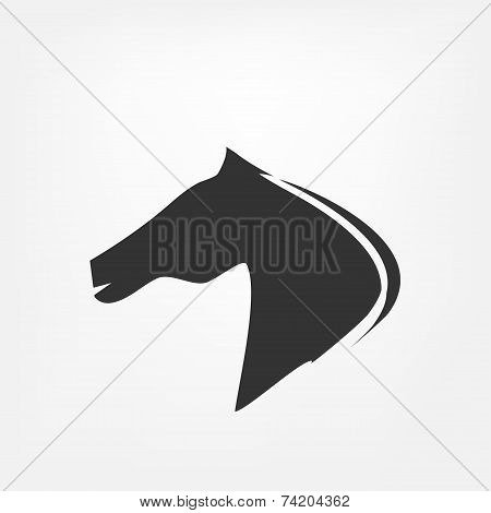 Horse head - vector illustration