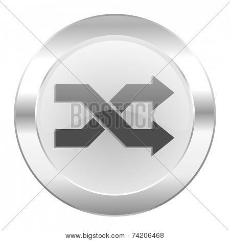 aleatory chrome web icon isolated