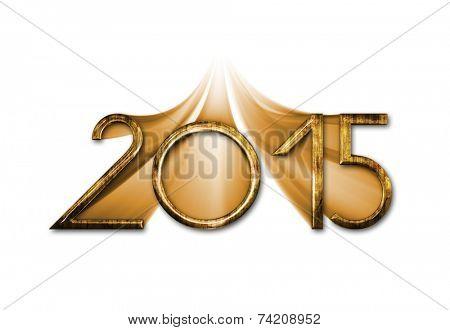 Happy new year 2015 creative greeting card design