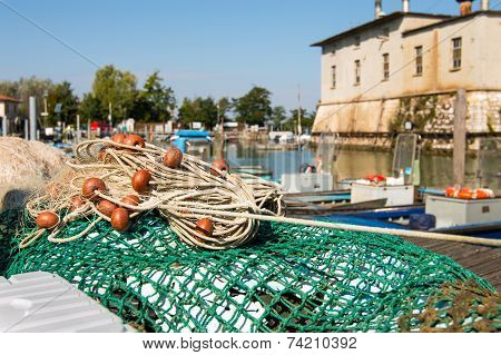 Fishing Net In The Harbor