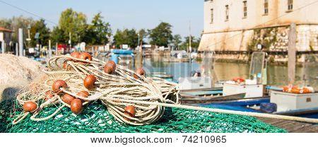 Fishing Net In The Port