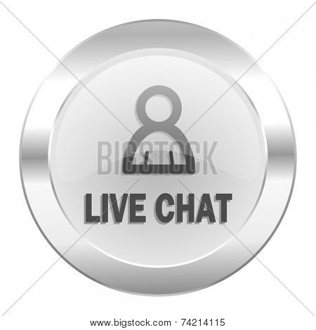 live chat chrome web icon isolated