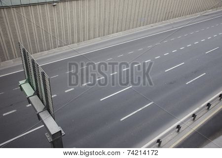 Top view highway
