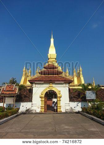 Pha That Luang stupa in Vientiane, Laos