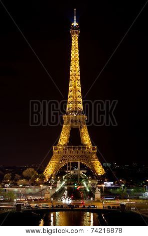 The Eiffel Tower By Night