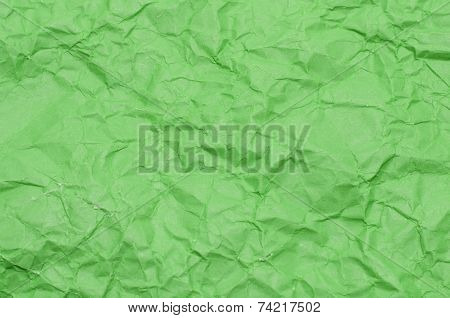 Texture Of Wrinkled Green Paper