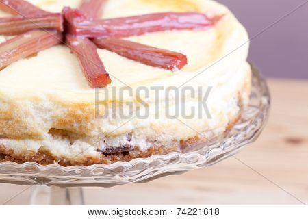 Rhubarb Cheese Cake
