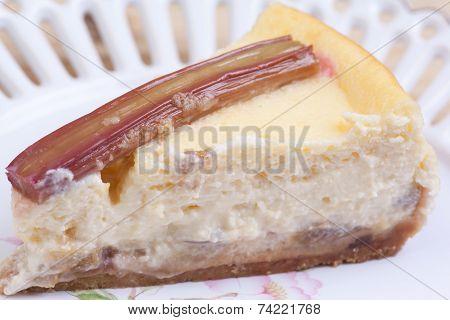 Piese Of Rhubarb Cheese Cake
