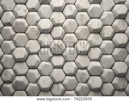 Abstract pattern of hexahedron stone pieces illustration