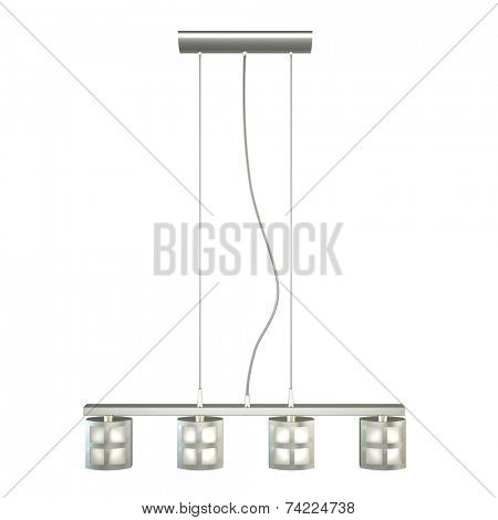 modern chandelier isolated on white background 3D