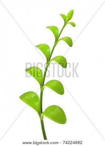 Young green sprout 3D