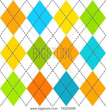 Classic multicolored  argyle pattern
