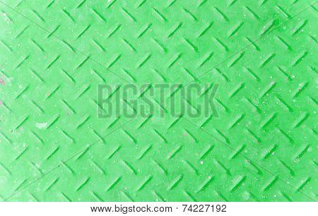 The Old Green Diamond Metal Plate