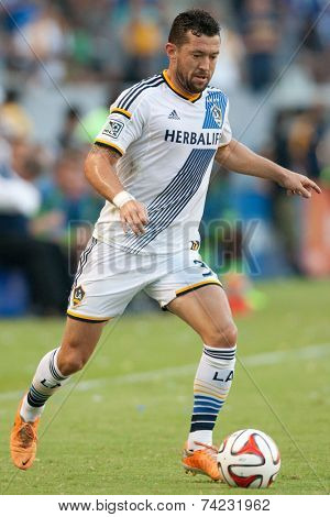 CARSON, CA - OCT 19: Dan Gargan during the Los Angeles Galaxy MLS game against the Seattle Sounders on October 19th 2014 at the StubHub Center.